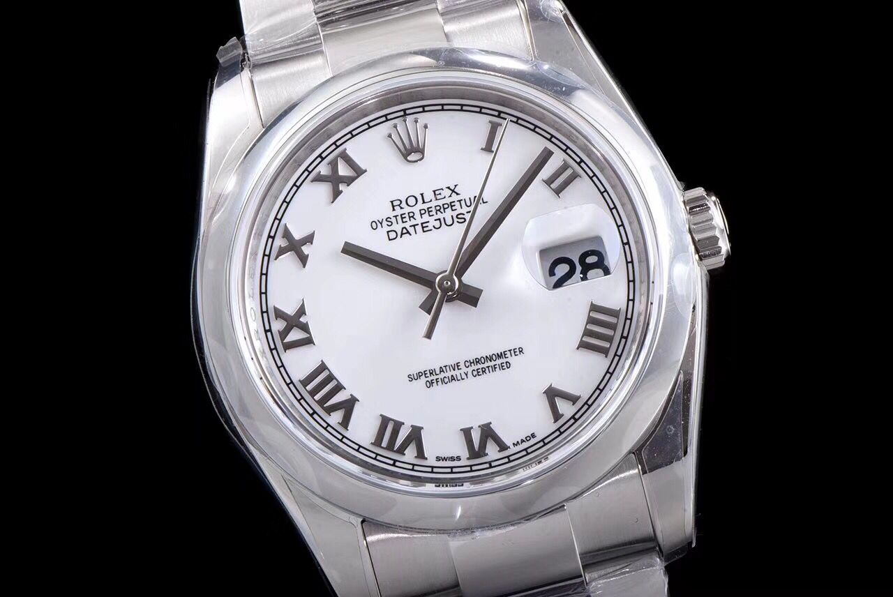 Copy Rolex White Dial Stainless Steel Oyster Strap Swiss Watch