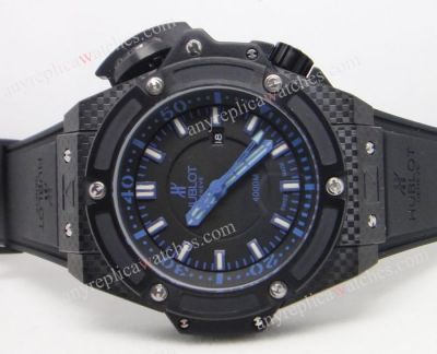 Copy Hublot King Power 4000m Dive Black and Blue Face