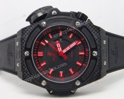 Copy Hublot King Power 4000m Dive Black and Red Dial