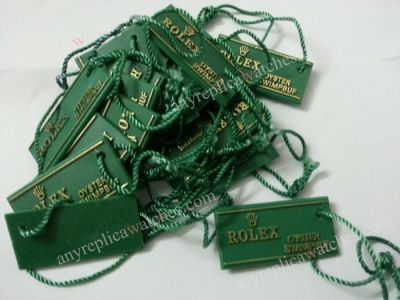 Rolex Green Hang Tag - OYSTER SWIMPBUF