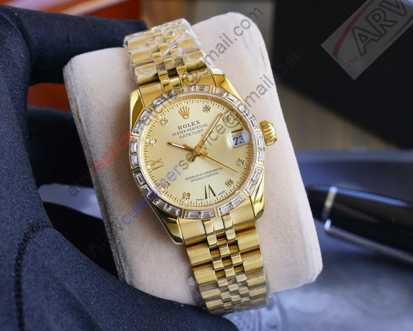 2020 New Best Replica Rolex Datejust 18K Gold Watch 31mm