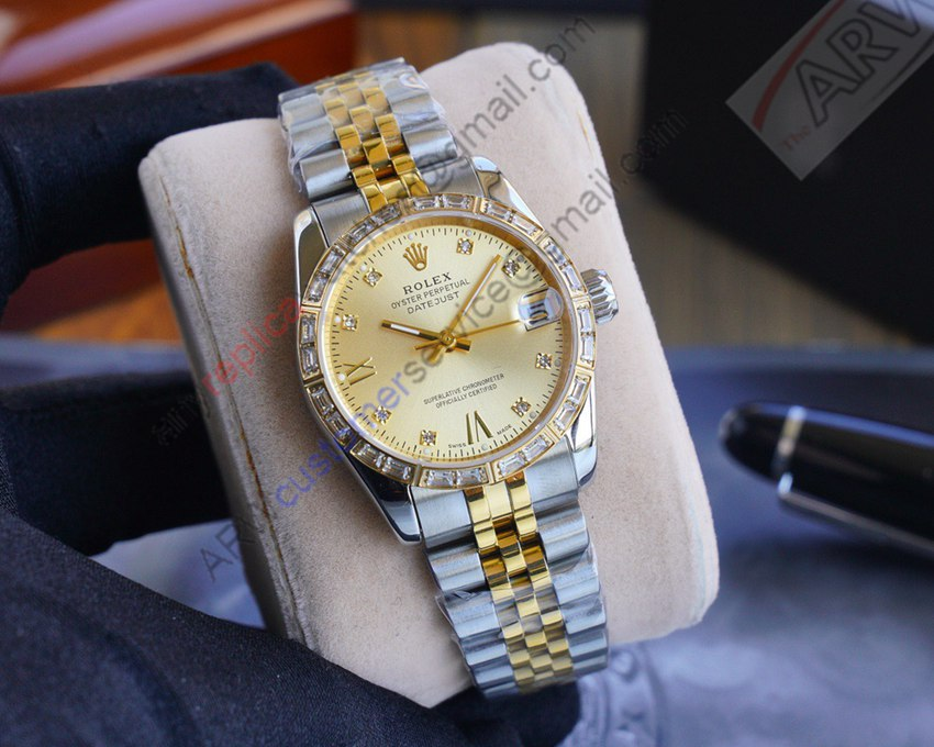 2020 New Replica Rolex Datejust 18K 2-Tone Gold Watch 31mm