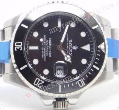 Extra Large Rolex Submariner 42mm SS Black Ceramic Copy Watch