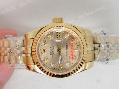 All Gold Rolex Ladies watch / Jubilee Band / Gold diamond
