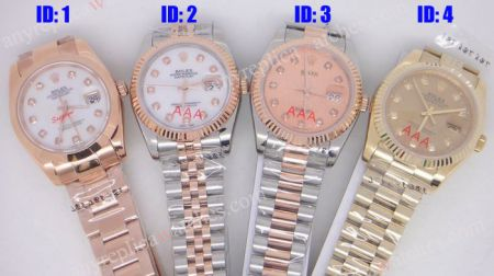 Rolex Datejust Diamond Markers Dial Watch