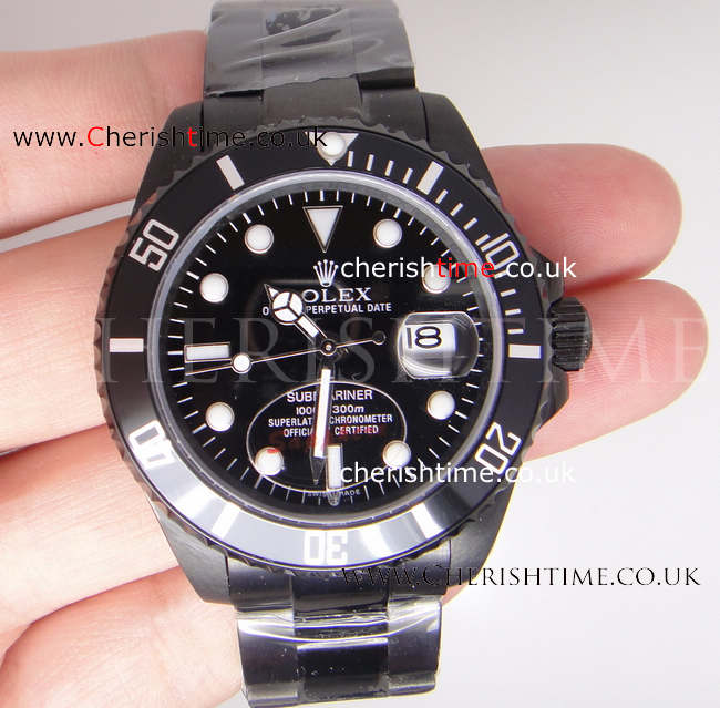 Ceramic Bezel Solid Black Rolex Submariner watch 36mm