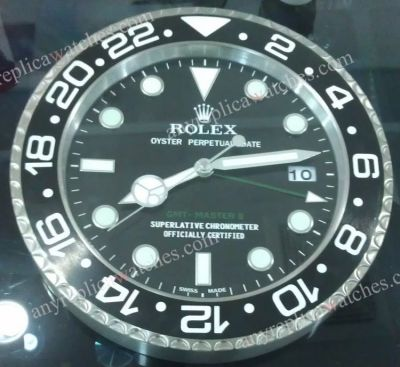 SS Black ROLEX GMT-MASTER II Dealer's clock