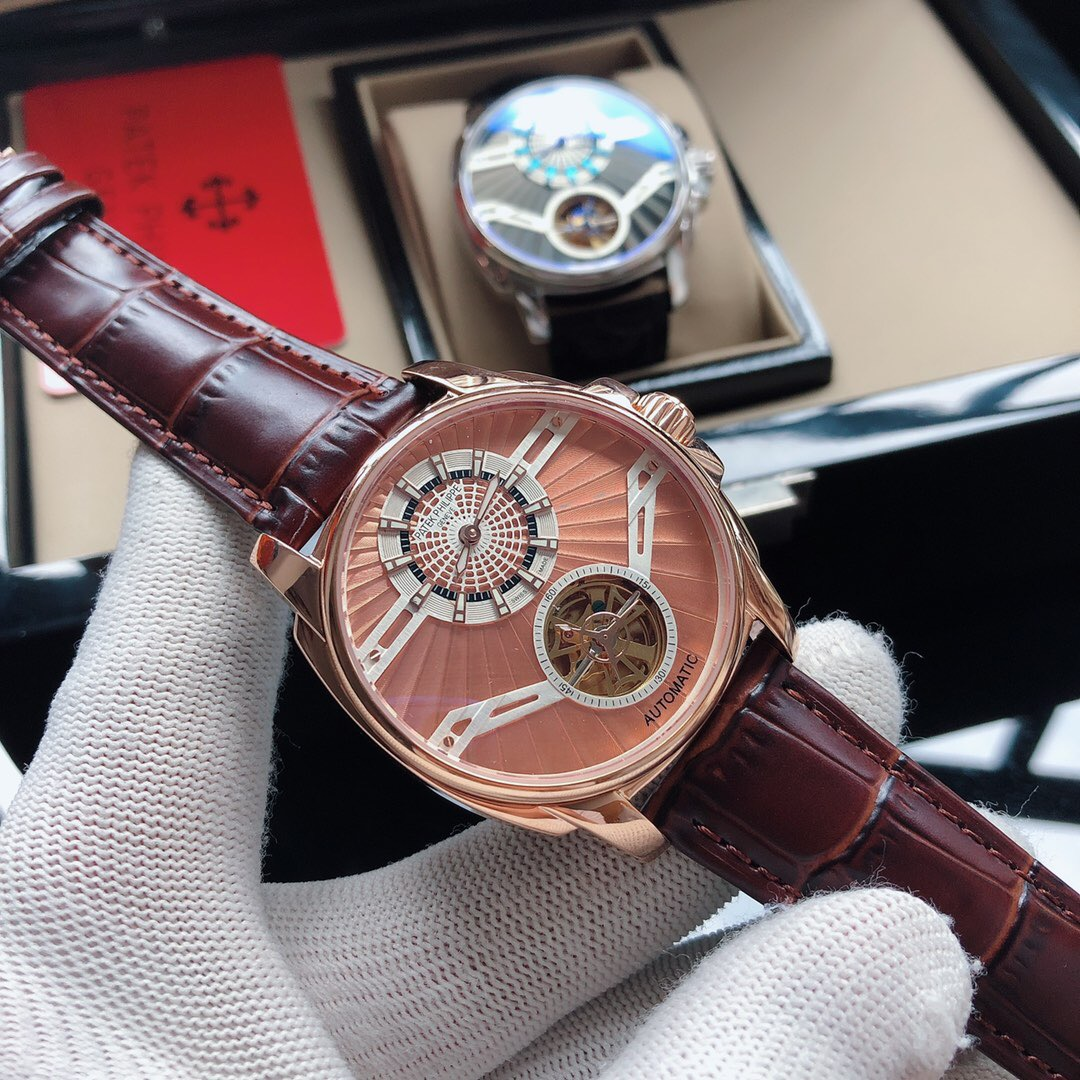 Best Quality Copy Patek Philippe Rose Gold Dial Watch
