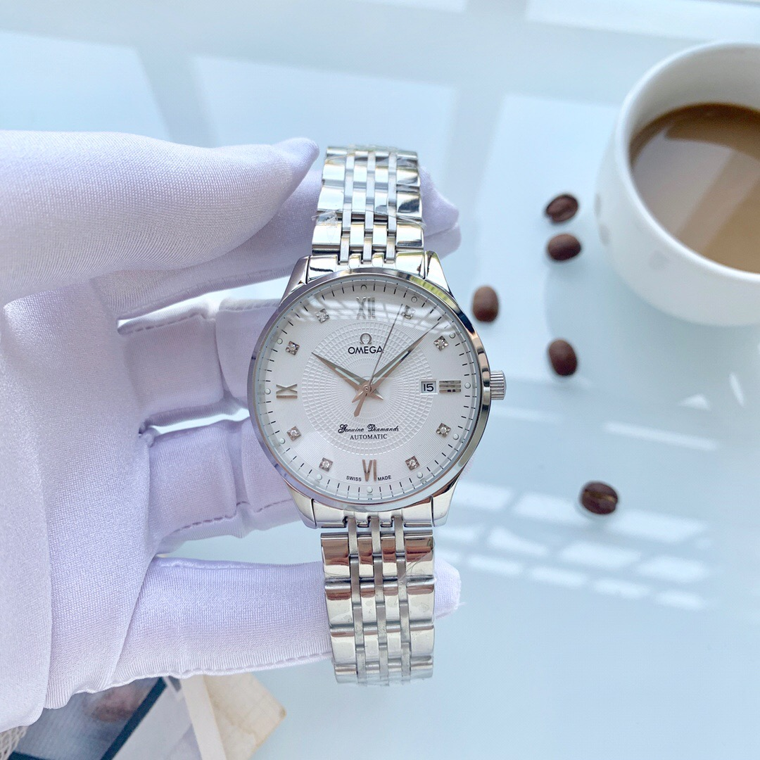Best Quality Replica Omega White Dial Stainless Steel Watch