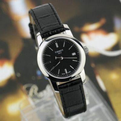 TISSOT 1853 Quartz Ladies Black Leather Watch