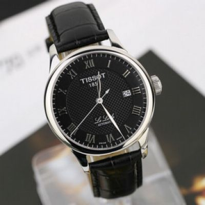Black TISSOT 1853 Automatic Leather Watch