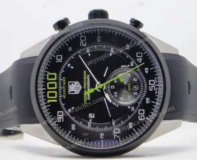 Black Tag Heuer Mikrotimer Flying 1000 GMT Replica Watch