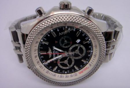 Breitling Bentley Motor Stainless Steel Black Chronograph Clone