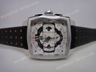 High Quality Copy Tag Monaco Mikrograph SS White Face 43mm