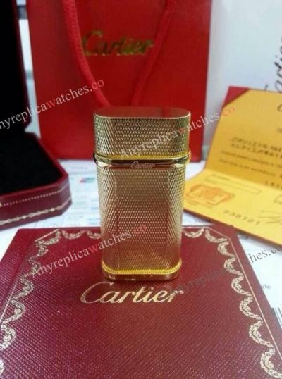 Cartier Lighter Replica All Gold For Mens Gift