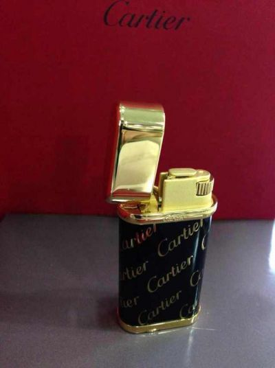 Cartier Lighter Black composite w/ Gold Cartier Logo finish Supe