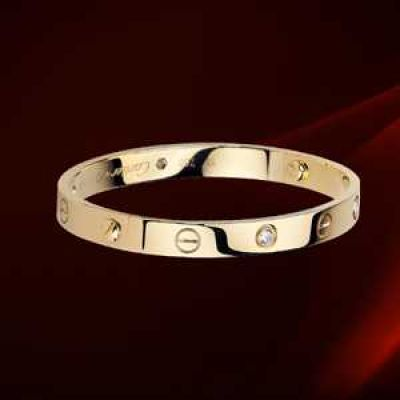 Cartier love bracelet gold Bracelet with 4 Diamonds (Genuine 1:1