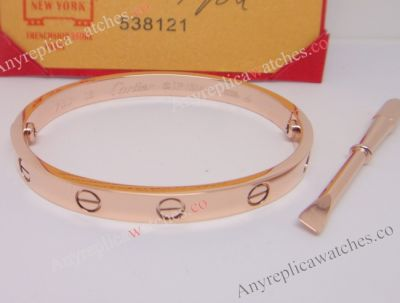 Cartier Love bracelet Rose Gold Bracelet with screwdriver