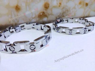 Cartier steel link bracelet for men and lady Gift