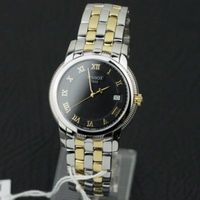 Classic TISSOT Automatic Black Dial 2-Tone Watch