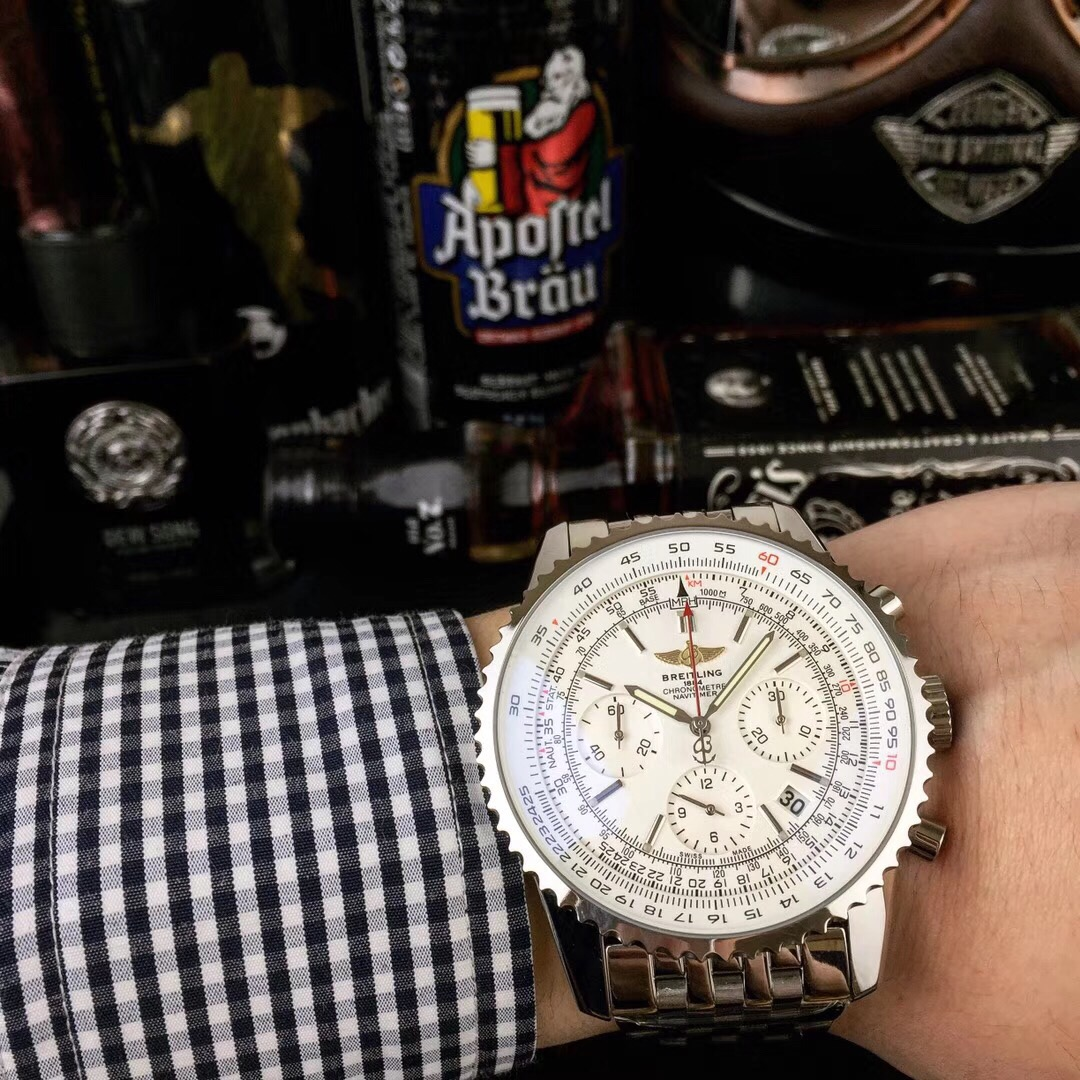 Clone Breitling Navitimer White Dial Stainless Steel Watch