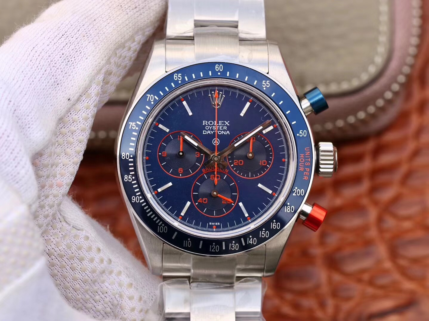 Clone Rolex Blue Dial Blue Bezel Limited Daytona Swiss Watch