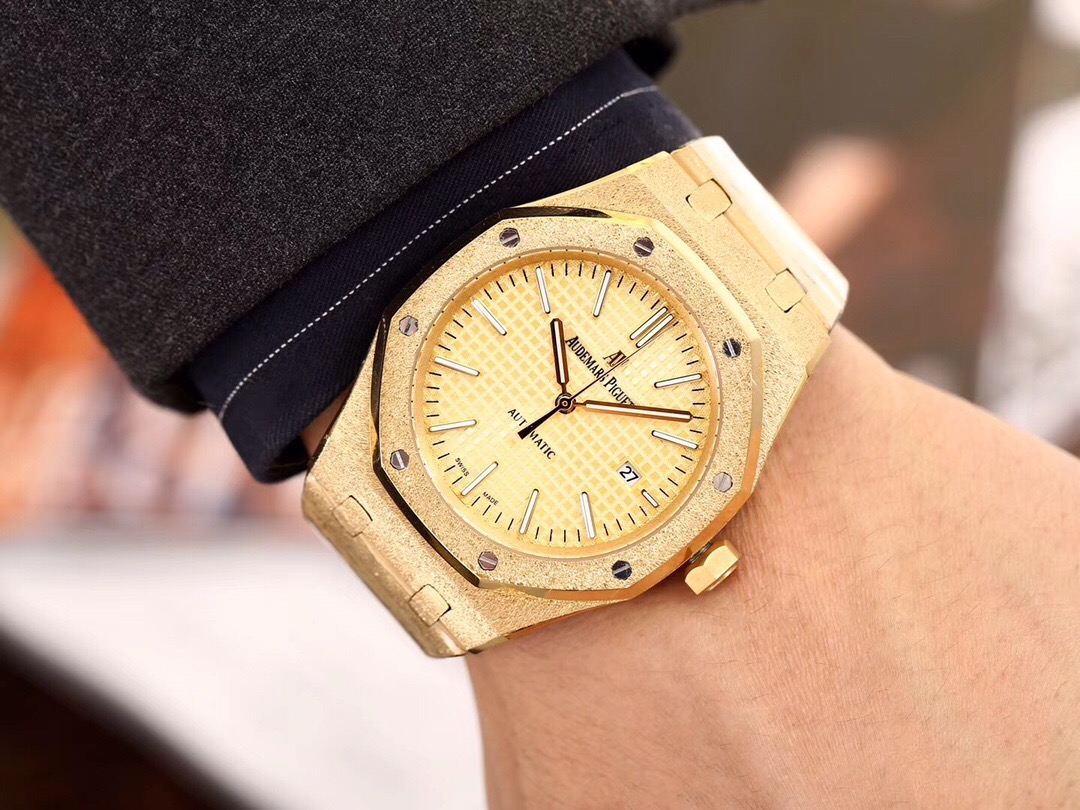 Copy Audemars Piguet Royal Oak Offshore Yellow Dial Watch