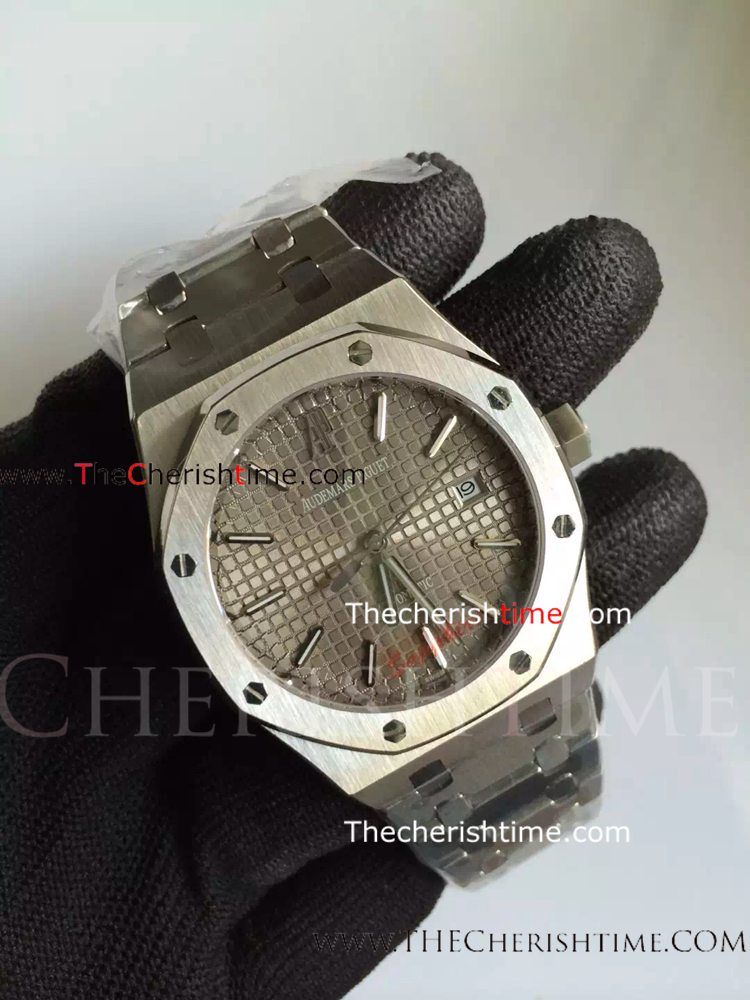 Copy Audemars Piguet SS Grey Dial Royal Oak Watch/Buy Wholesale