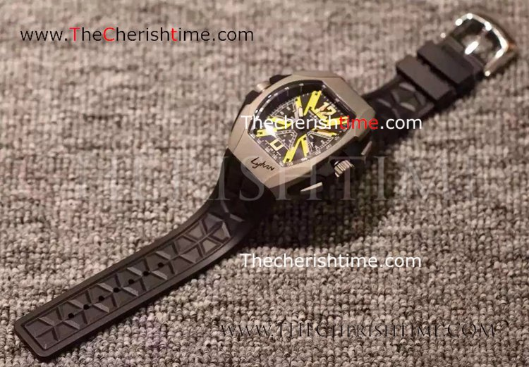 Copy Franck Muller Lykan Hypersport Gray Case Rubber Watch
