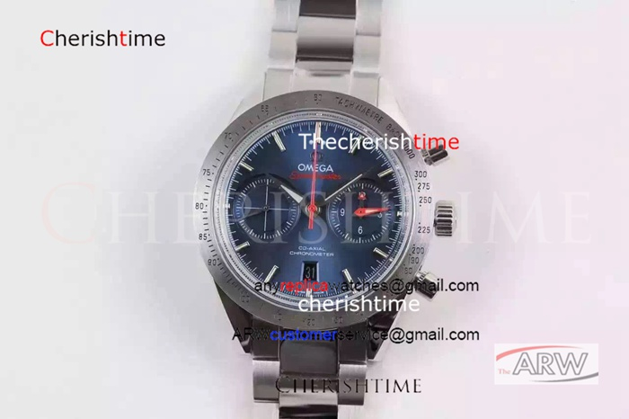 Copy Omega Blue Face Stainless Steel Case 9301 Swiss Watch