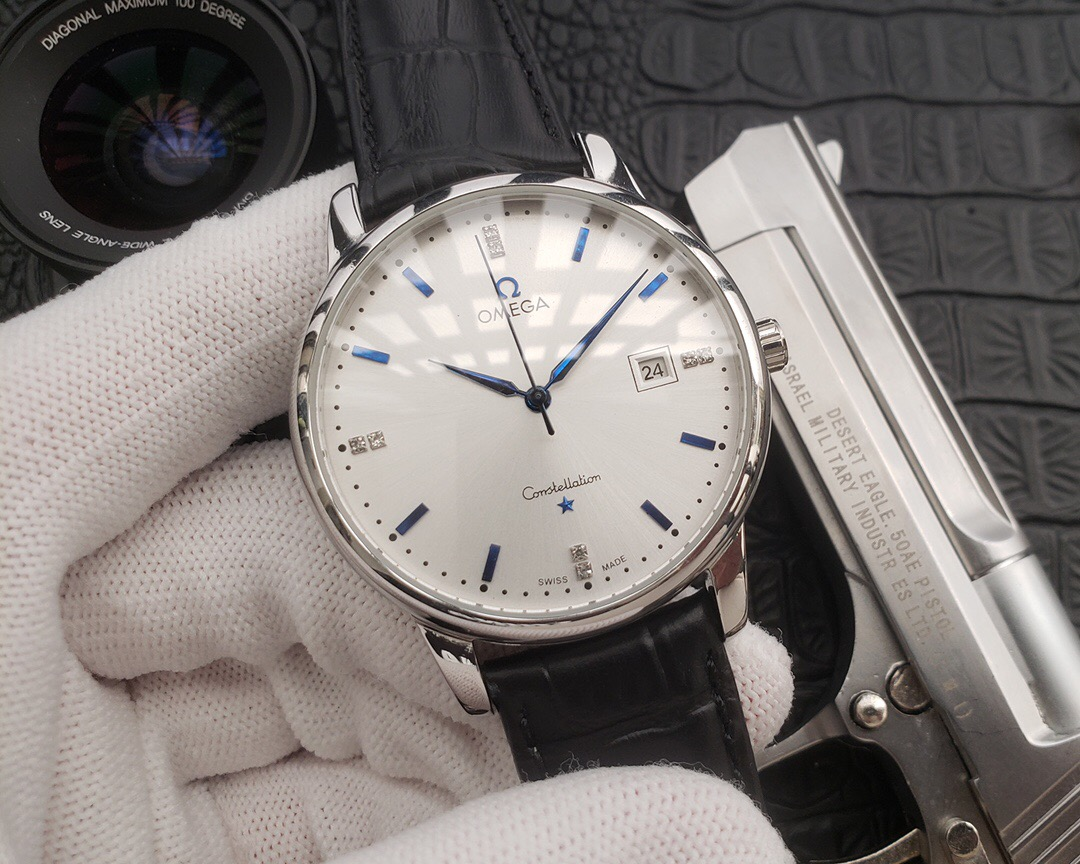 Copy Omega Constellation White Dial Men's Watch