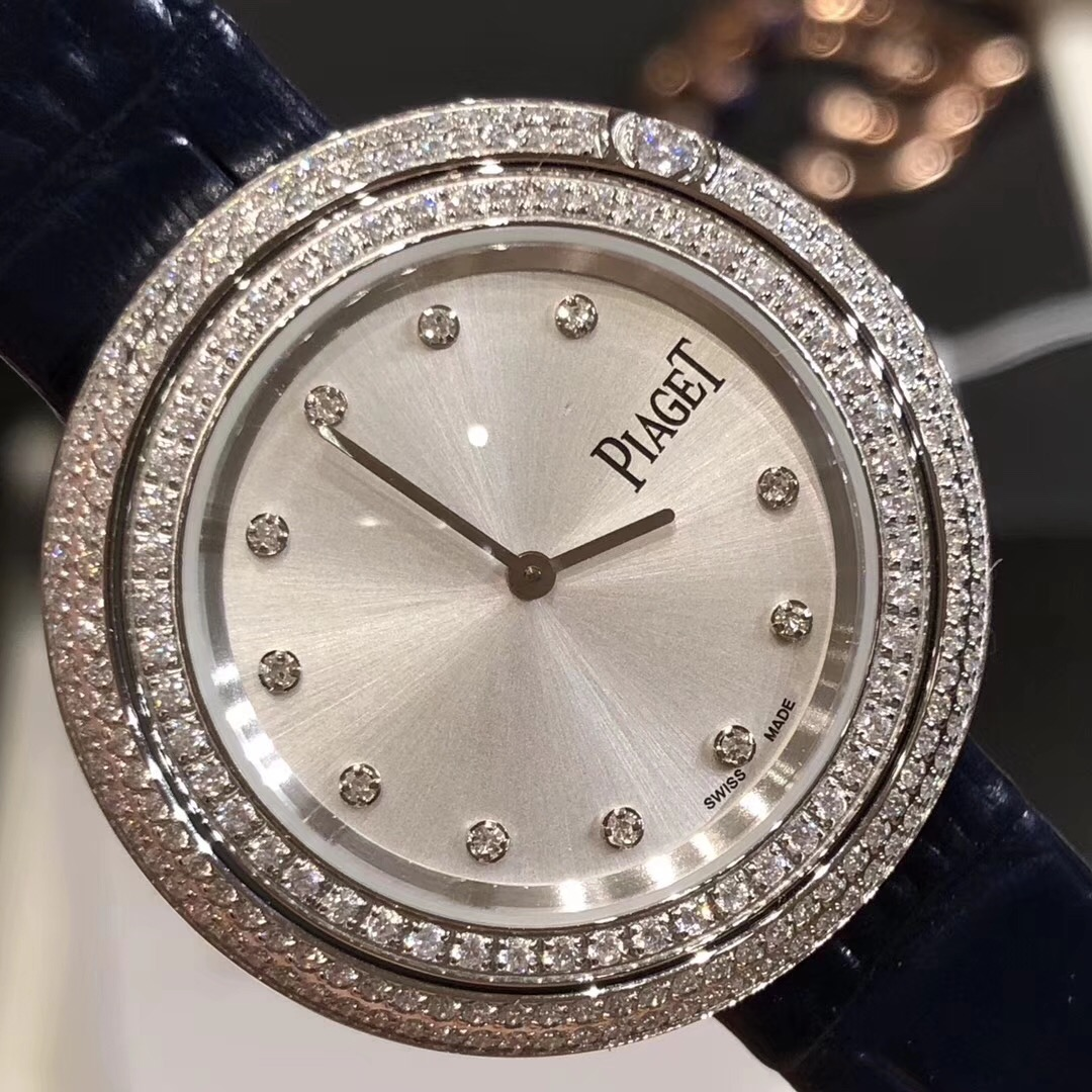 Copy Piaget White Dial Diamonds Bezel Ladies Quartz Watch