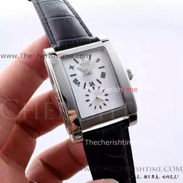 Copy Rolex Cellini Prince Watch Stainless Steel White Dial