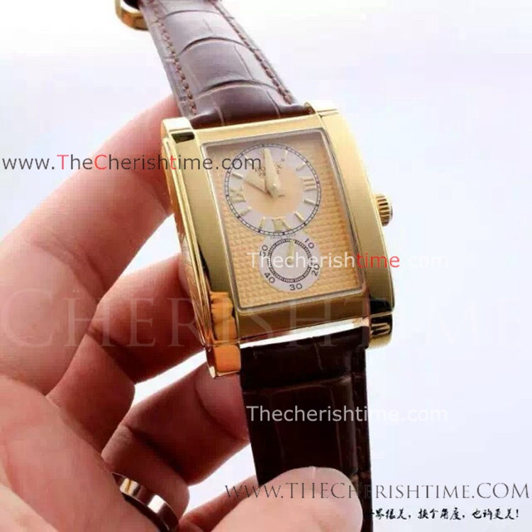 Copy Rolex Cellini Prince Watch Yellow Gold Case Roman Numeral