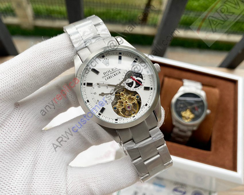 Copy Rolex Oyster Tourbillon Moonphase Watch