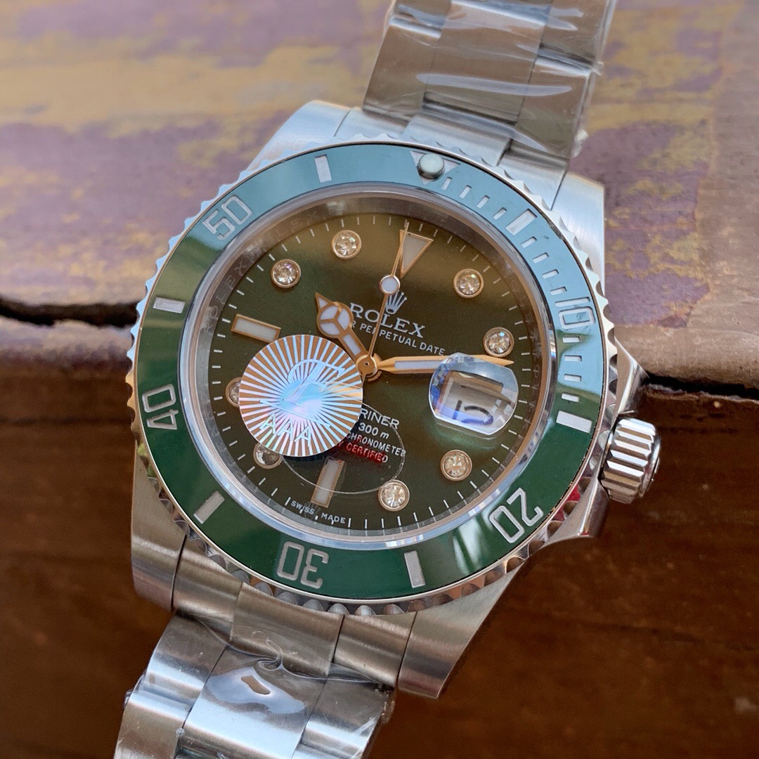 Copy Rolex Submariner Green Dial SS Men's Watch