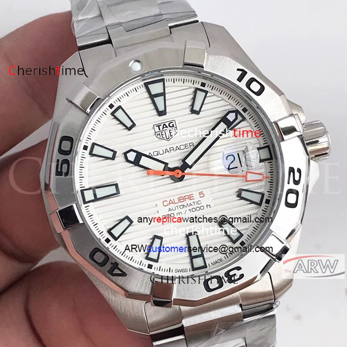 Copy TAG Heuer White Dial Stainless Steel Case Watch