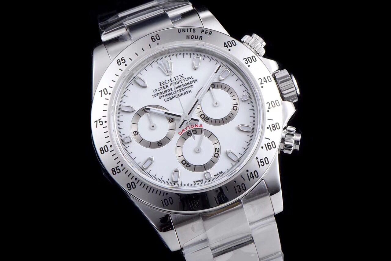 Copy Rolex White Dial 904L Stainless Steel Case Swiss Watch