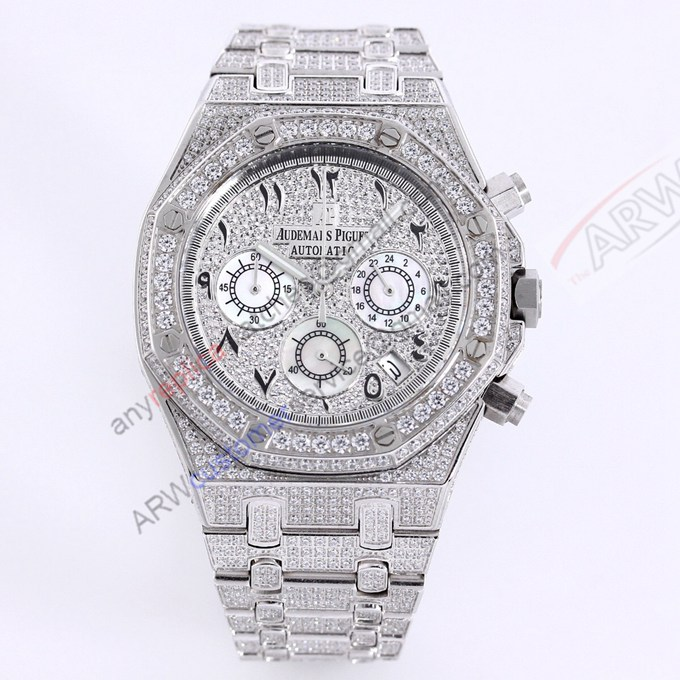 NEW VK Multi-Function Movement Audemars Piguet All diamond watch