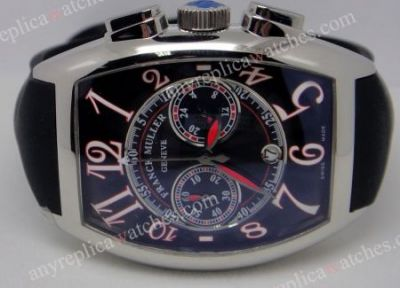 Franck Muller Casablanca Black Chronograph Replica Watch