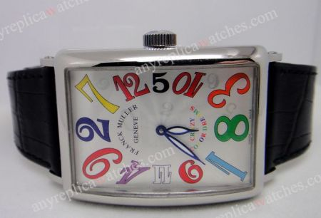 FRANCK MULLER SS CASE BLACK LEATHER STARP CRAZY WATCH