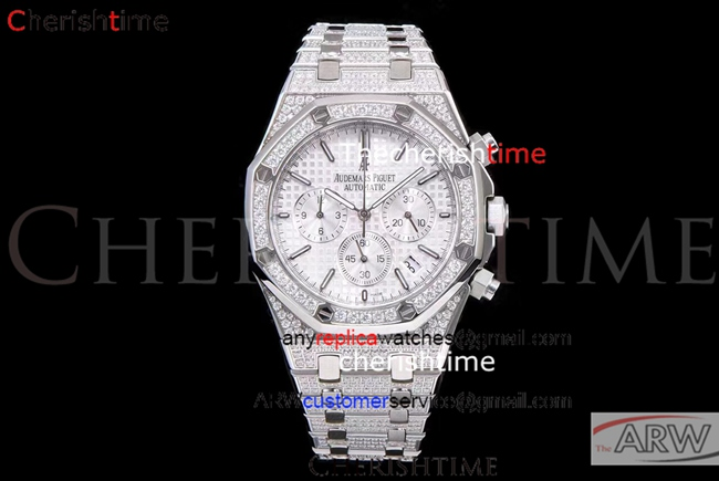 Fake Audemars Piguet White Dial All Diamonds Quartz Watch