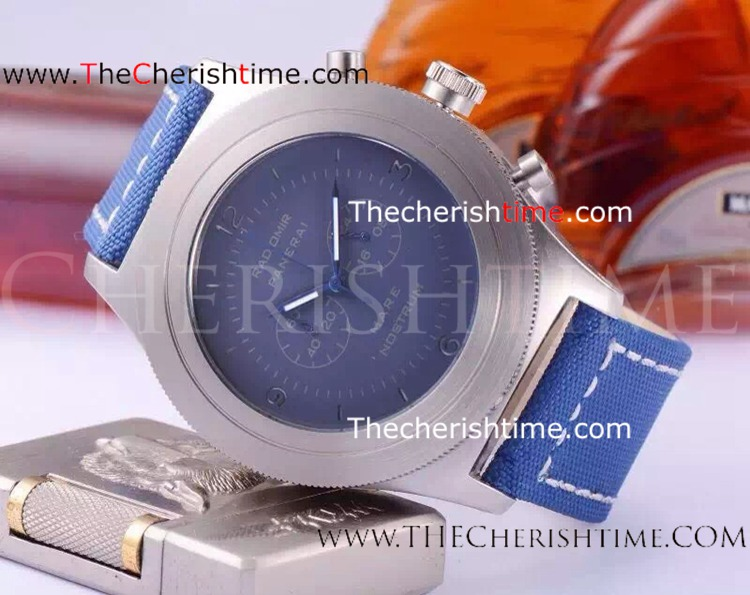 Fake Radiomir Panerai Mare Nostrlim SS Blue Leather Watch