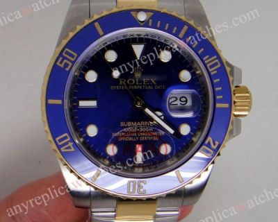 Ceramic Bezel Rolex Submariner two tone Blue Face