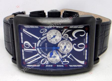 Franck Muller Long Island Chronograph with Date Black Watch