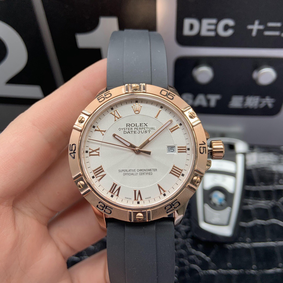 High-end Clone Rolex Datejust White Dial Watch
