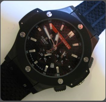 Hublot Big Bank King Luna Rossa Chronograph Men's Solid Black Ca