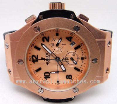 HUBLOT GENEVE BIG BANG - GOLD CASE - GOLD Chronograph - High Qua