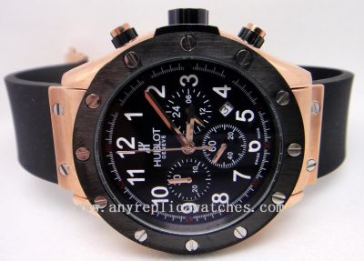 Hublot All Gold w/ Black Bezel Set - Hublot Big Bang Watch