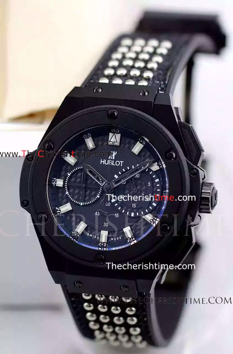 Hublot King Power Black Case Chronograph Watch - Buy Copy